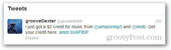 amazon tweet mp3