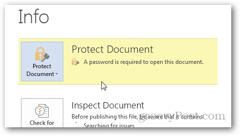 Password Protect and Encrypt Office 2013 Documents : Confirm Protection