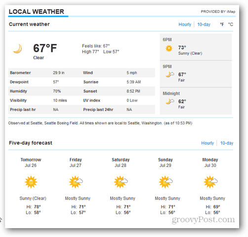Outlook 2013 Calendar Weather Tour - More details on MSN
