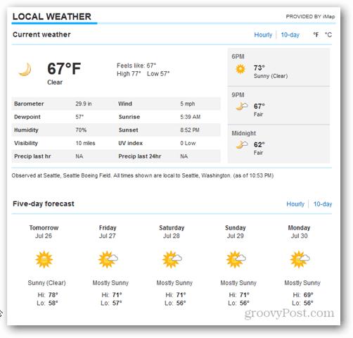 Outlook 2013 Calendar Weather Tour - More details on MSN