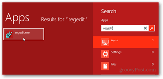 regedit windows 8