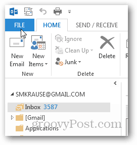 how to create pst file for outlook 2013 - click file
