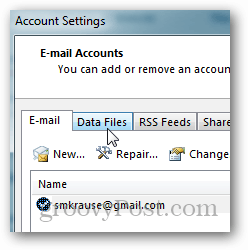 how to create pst file for outlook 2013 - click data file