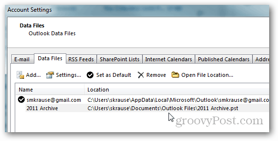 how to create pst file for outlook 2013 - path
