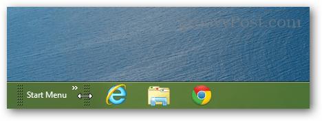 slide start menu to bottom left