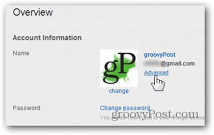 Link a YouTube Account to a New Google Account - Click Advanced