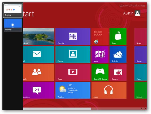 windows 8 metro app switcher