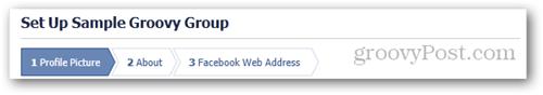 facebook page setup steps 1 2 3