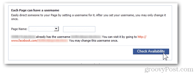 facebook page settings username change username each page can have a username page name check availability