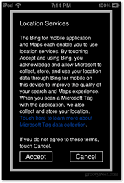 location services terms accept cancel microsoft
