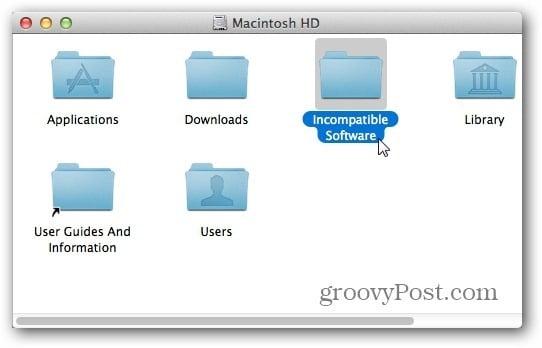 incompatible Folder