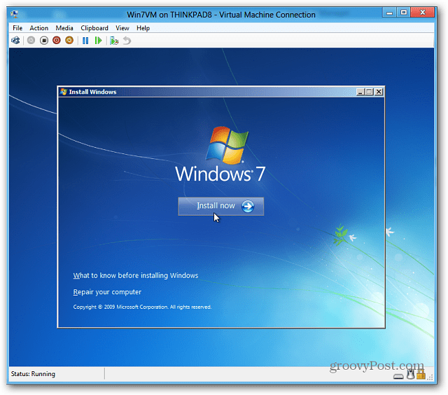 install windows 7
