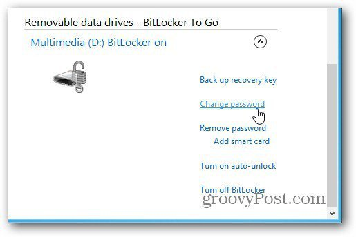 manage bitlocker win8
