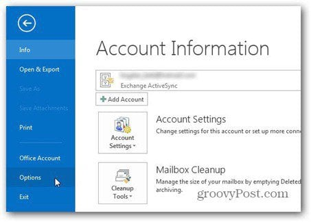 outlook 2013 use signature file options