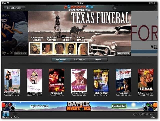popcornflix iPad