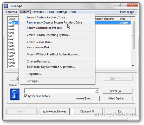 Permanently Decrypt System Partition/Drive