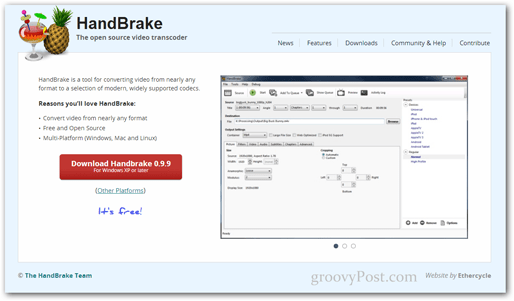handbrake download website link program