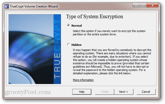 TrueCrypt: Type of System Encryption