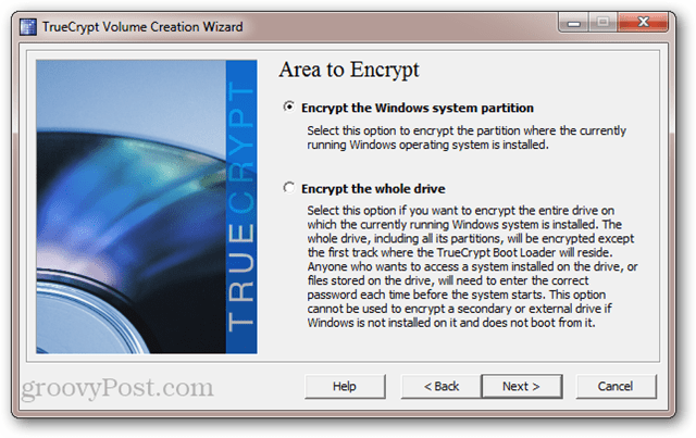 TrueCrypt: Encrypt the Windows system partition vs. encrypt the whole drive
