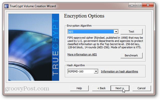 TrueCrypt Encryption Options: AES, SerpentFish, Twofish, Cascades