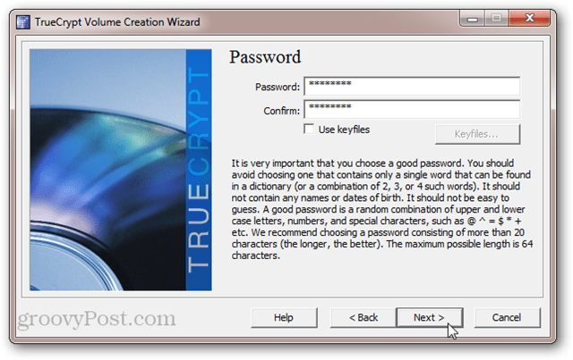 TrueCrypt Password Protection