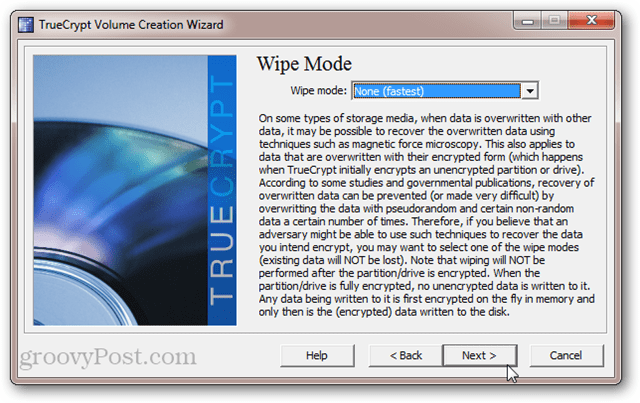 TrueCrypt Wipe Mode: magnetic  force microscopy