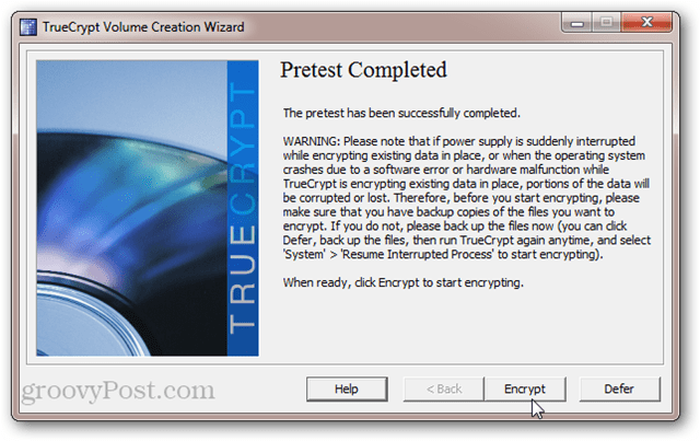 TrueCrypt System Disk Encryption Pretest