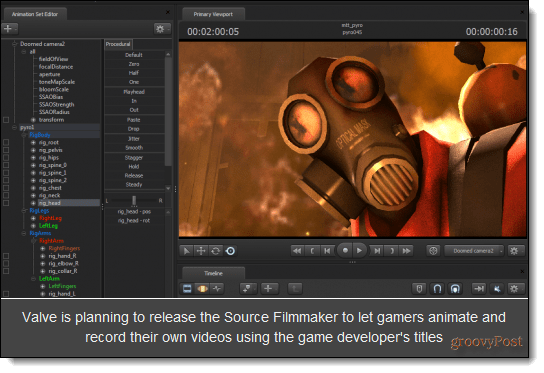 Woirking screen of Valve animation.
