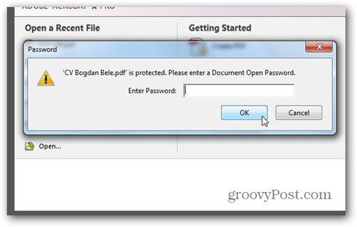 word 2013 save to pdf password protected