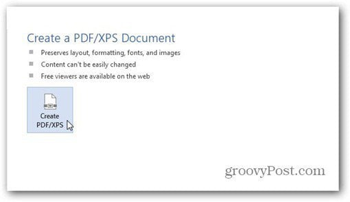 word 2013 save to pdf