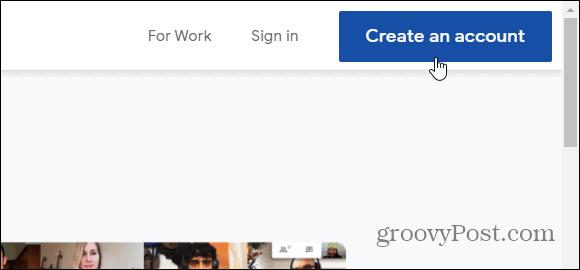 create an account gmail
