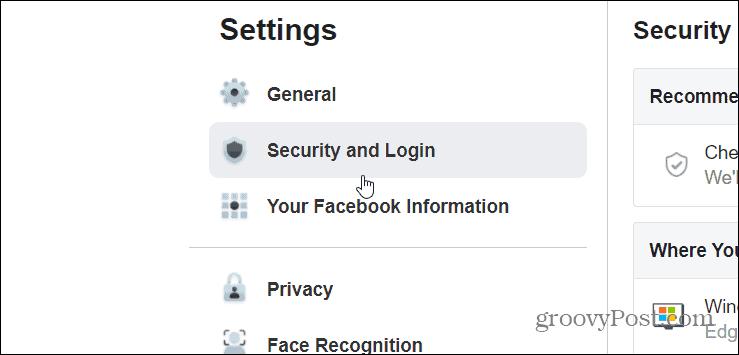 security login