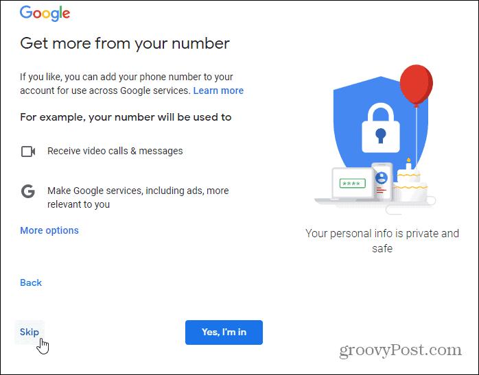 verify extra information