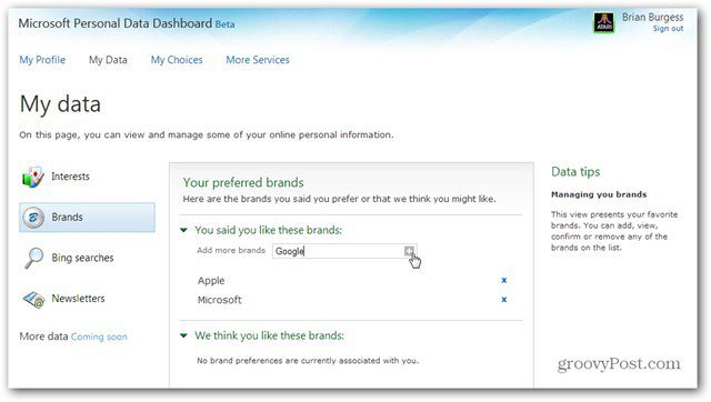 How To Use The Microsoft Personal Data Dashboard