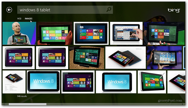 was released last week and it includes a new Bing App by default Windows 8 Bing App is Search Re-imagined