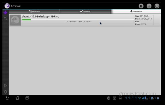 BitTorrent Beta Android downloading