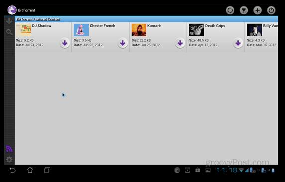 BitTorrent Beta Android featured content