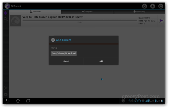 BitTorrent Beta Android torrent files location