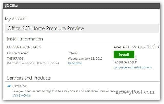 Home Premium Preview