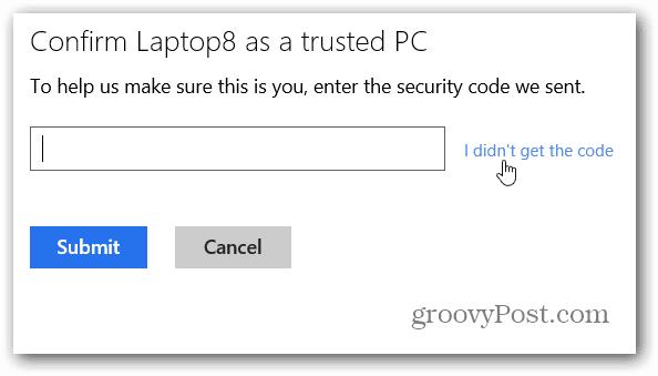 I didn't get Code