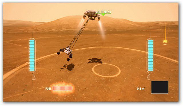 Kinect Mars Rover Landing