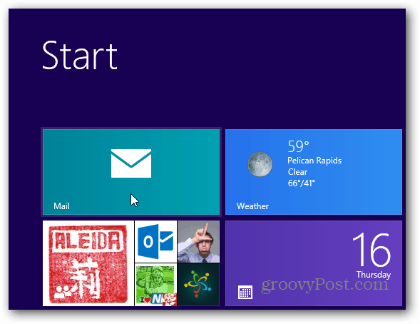 Launch Windows 8 Mail Client