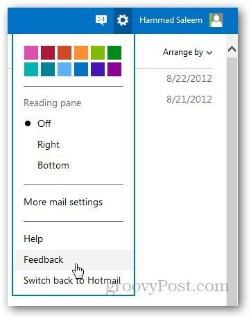 Outlook Feedback 1