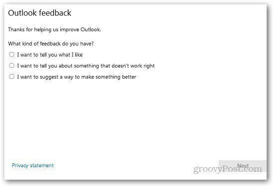 Outlook Feedback 8