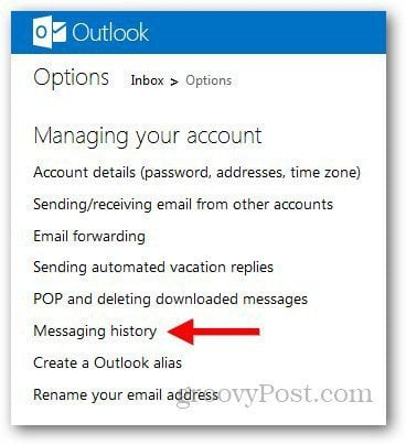 Outlook Message History 2