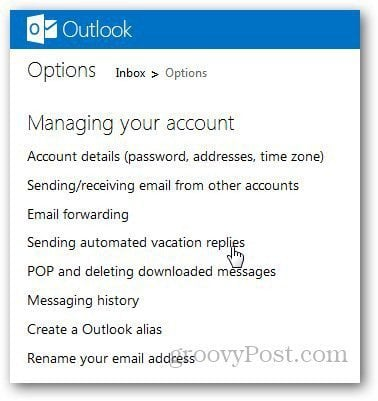 Outlook Vacation Message 2