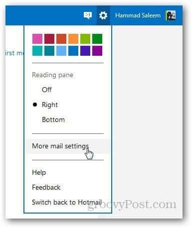 Rename Hotmail Address 1