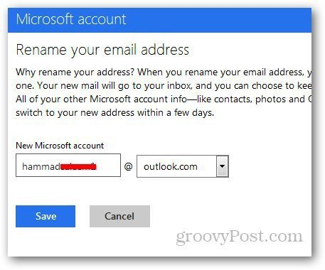 Rename Hotmail Address 4