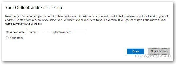 Rename Hotmail Address 6