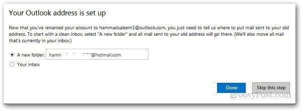 Rename Hotmail Address 6